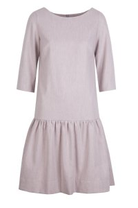 OLIVIA zipper dress gray-pink