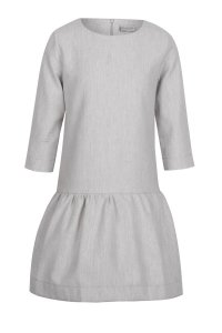 OLIVIA zipper dress gray