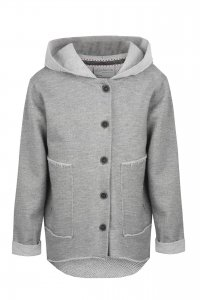 COTTON SKY hooded sweatshirt unisex gray