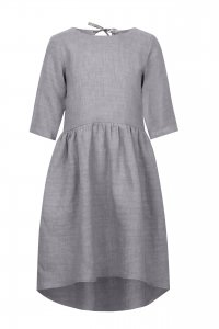 EMILY asymetric dress for girls gray